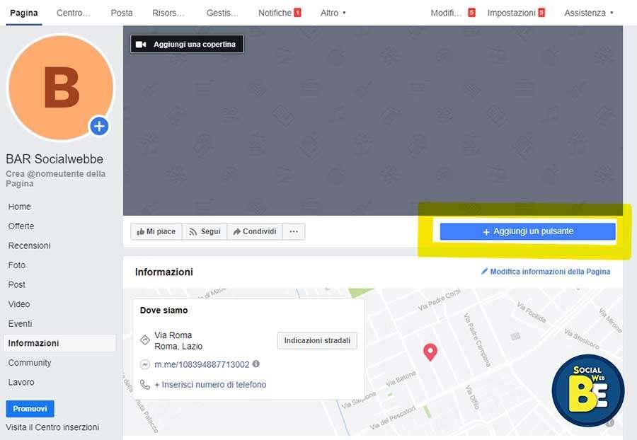 Guida creazione pagina facebook per bar
