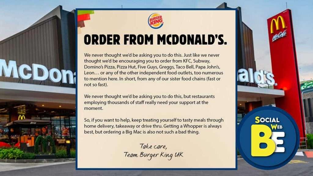 campagna burger king per McDonald's
