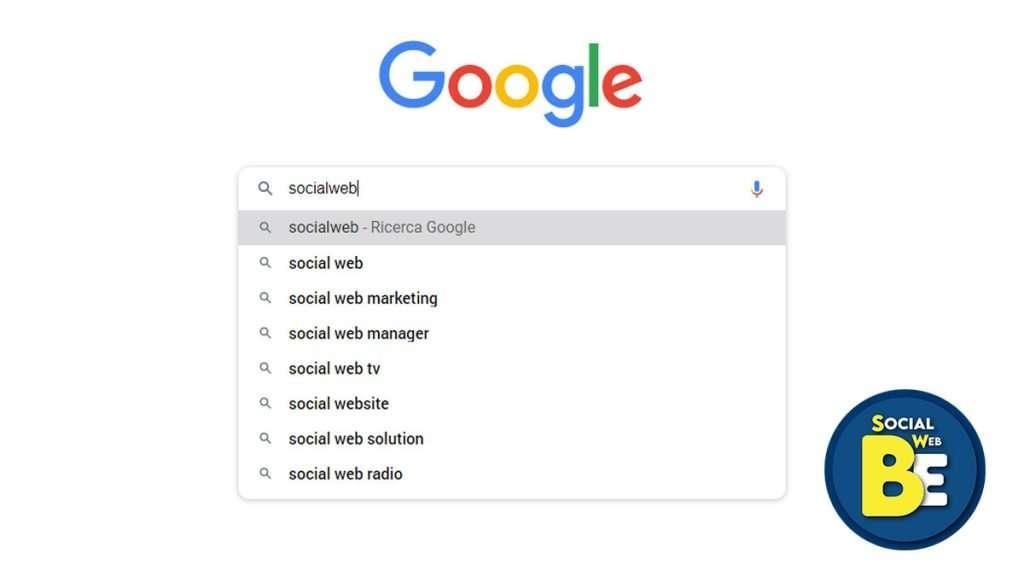 ricerca su google Socialwebbe